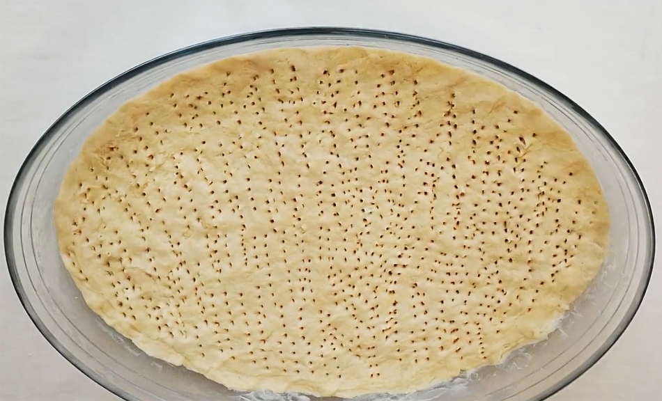 ham pie dough fork