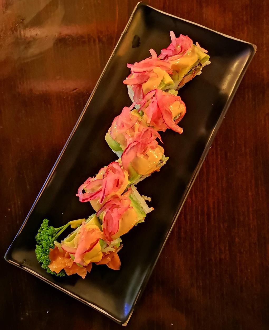 kibuka spicy tori uramaki top