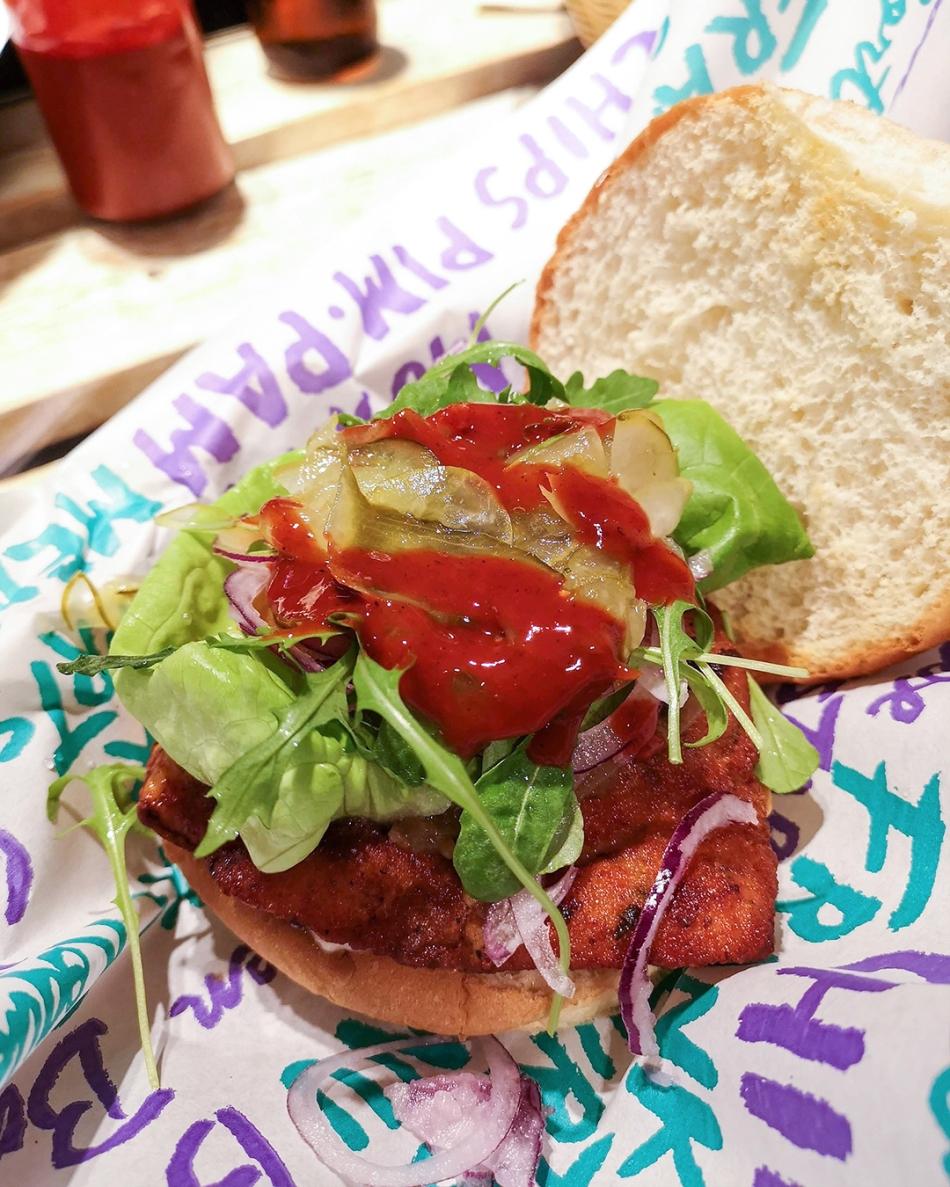 Pim Pam Chicken Burger